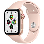 Apple Watch SE GPS + Cellular Gold Aluminium Bracelet Sport Pink Sand 44 mm