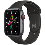 Apple Watch SE GPS + Cellular Space Gray Aluminium Bracelet Sport Black 44 mm