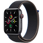 Apple Watch SE GPS + Cellular Space Gray Aluminium Bracelet Sport Charcoal 44 mm