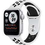 Apple Watch Nike SE GPS Silver Aluminium Bracelet Sport Pure Platinum Black 40 mm