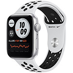 Apple Watch Nike SE GPS Silver Aluminium Bracelet Sport Pure Platinum Black 44 mm