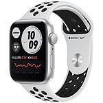 Apple Watch Nike SE GPS Silver Aluminium Bracelet Sport Pure Platinum Black 44 mm