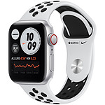 Apple Watch Nike SE GPS + Cellular Silver Aluminium Bracelet Sport Pure Platinum Black 40 mm