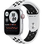Apple Watch Nike SE GPS + Cellular Silver Aluminium Bracelet Sport Pure Platinum Black 44 mm