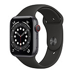 Apple Watch Series 6 GPS + Cellular Aluminium Space Gray Bracelet Sport Black 44 mm
