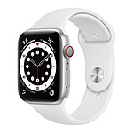 Apple Watch Series 6 GPS + Cellular Aluminium Silver Bracelet Sport White 44 mm