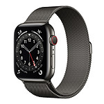 Apple Watch Series 6 GPS + Cellular Stainless steel Graphite Bracelet Milanese 44 mm