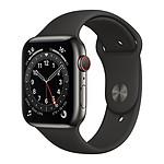 Apple Watch Series 6 GPS + Cellular Stainless steel Graphite Bracelet Sport Black 44 mm