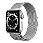 Apple Watch Series 6 GPS + Cellular Stainless steel Silver Bracelet Milanese 44 mm