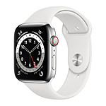 Apple Watch Series 6 GPS + Cellular Stainless steel Silver Bracelet Sport White 44 mm