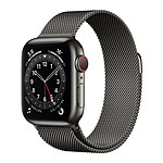 Apple Watch Series 6 GPS + Cellular Stainless steel Graphite Bracelet Milanese 40 mm