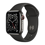 Apple Watch Series 6 GPS + Cellular Stainless steel Graphite Bracelet Sport Black 40 mm