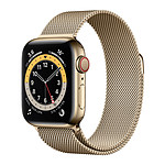 Apple Watch Series 6 GPS + Cellular Stainless steel Gold Bracelet Milanese 40 mm