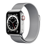 Apple Watch Series 6 GPS + Cellular Stainless steel Silver Bracelet Milanese 40 mm
