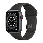 Apple Watch Series 6 GPS + Cellular Aluminium Space Gray Bracelet Sport Black 40 mm