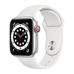 Apple Watch Series 6 GPS + Cellular Aluminium Silver Bracelet Sport White 40 mm