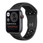 Apple Watch Nike Series 6 GPS + Cellular Aluminium Space Gray Bracelet Sport Anthracite Black 44 mm