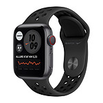 Apple Watch Nike Series 6 GPS + Cellular Aluminium Space Gray Bracelet Sport Anthracite Black 40 mm