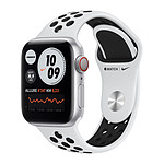 Apple Watch Nike Series 6 GPS + Cellular Aluminium Silver Bracelet Sport Pure Platinum 40 mm