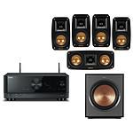 Yamaha RX-V4A Noir + Klipsch Reference Theater Pack 5.0 + Klipsch R-100SW