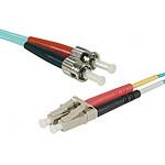 Jarretière optique duplex multimode 3mm OM3 LC-UPC/ST-UPC (1 mètre)