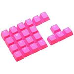 Tai-Hao Rubber DoubleShot Keycaps x22 AZERTY (Rose)