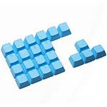 Tai Hao Rubber DoubleShot Keycaps x22 AZERTY Blue