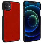 Funda de cuero Akashi rojo italiano iPhone 12 / 12 Pro