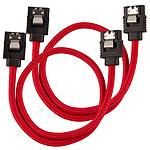 Corsair Câble SATA gainé Premium 30 cm (coloris rouge)