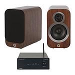 Tangent Ampster BT II + Q Acoustics 3010i Noyer
