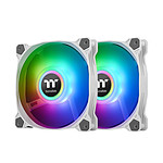 Thermaltake Pure Duo A12 ARGB Radiator Fan x 2 - Blanc