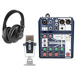 Soundcraft Notepad-5 + AKG Lyra + AKG K361-BT