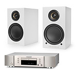 Marantz CD5005 Argent Or + Triangle Elara LN01A Blanc mat