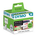 DYMO 320 étiquettes disquettes pour imprimante LabelWriter 54 x 70 mm