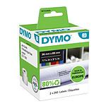 DYMO Pack de 2 rouleaux d'étiquettes adresse larges pour LabelWriter - 89 x 36 mm