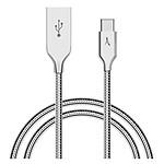 Akashi Câble USB-C Métal Incassabale (Argent)