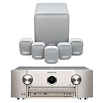 Marantz SR6015 Argent/Or + Monitor Audio MASS 5.1 Blanc