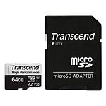 Transcend MicroSDXC 330S 64 Go + Adaptateur SD