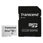 Transcend MicroSDHC 300S 64 Go + Adaptateur SD