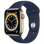 Apple Watch Series 6 GPS + Cellular Stainless Steel Deep Navy Bracelet Sport Black 44 mm