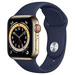 Apple Watch Series 6 GPS + Cellular Stainless Steel Deep Navy Bracelet Sport Black 40 mm