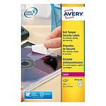 Avery Etiquettes Sécuritaires 63,5 x 29,6 mm