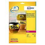 Avery Etiquettes ultra-résistante jaune 21,2 x 45,7 mm
