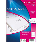 Office Star Etiquettes multi-usage blanches 105 x 42.4 mm x 1400