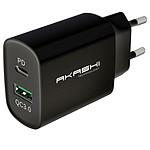 Cargador de red Akashi 20W USB-A Quick Charge 3.0 Negro