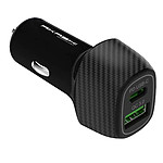 Akashi Turbo Chargeur Allume Cigare USB-C 18W + USB-A Quick Charge 3.0