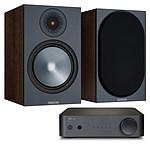 NAD AMP1 + Monitor Audio Bronze 100 Noyer