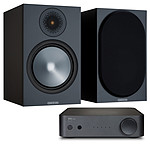 NAD AMP1 + Monitor Audio Bronze 100 Noir
