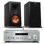 Yamaha MusicCast R-N402D Argent + Klipsch RP-160M Ebony