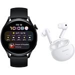 Huawei Watch 3 Active Noir + FreeBuds 4i Blanc